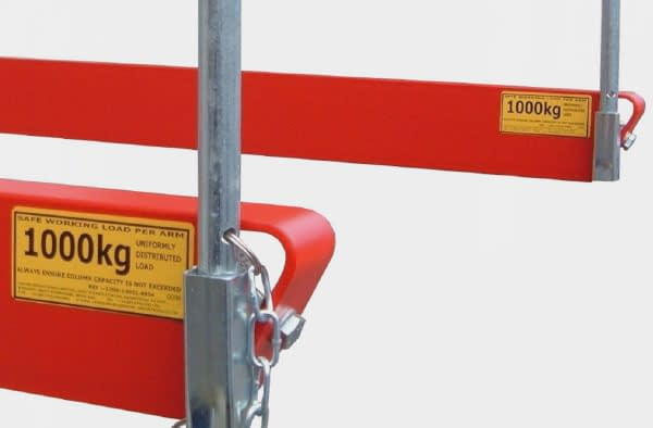 cantilever racking end stops