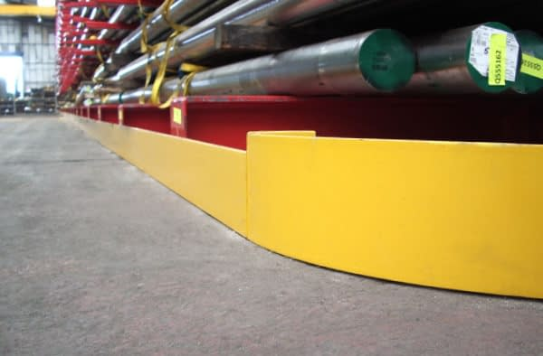 warehouse guided rail system