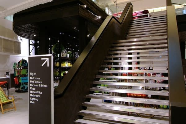 Retail mezzanine with feature staircase