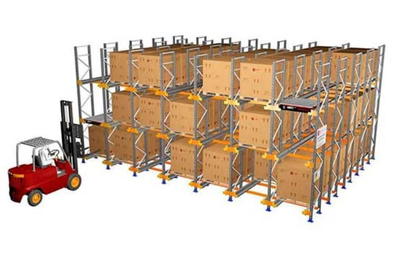 Automated shuttle racking