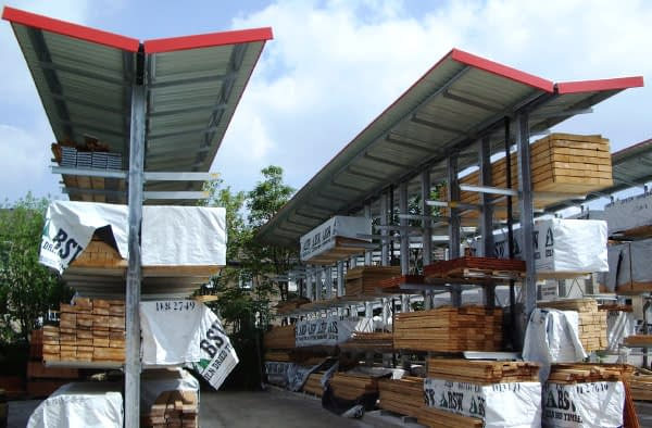 space productiv canopy cantilever racking