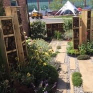 'Living in Sync' Show Garden Bug Boxes Re-Sited at Childrens' Nursery Garden